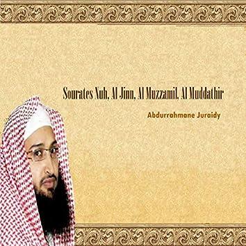 Sourates Nuh, Al Jinn, Al Muzzamil, Al Muddathir (Quran)