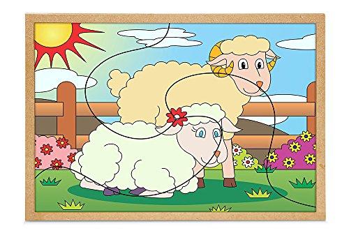 Carlu Brinquedos - Quebra-Cabeça, 4+ Anos, 3 Peças, Color Multicolorido, 1246