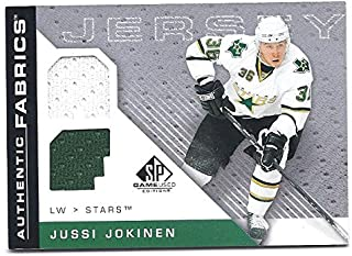 JUSSI JOKINEN 2007-08 SP Game Used Edition Authentic Fabrics #AFJU Dual Game-Used JERSEY Card Florida Panthers Hockey