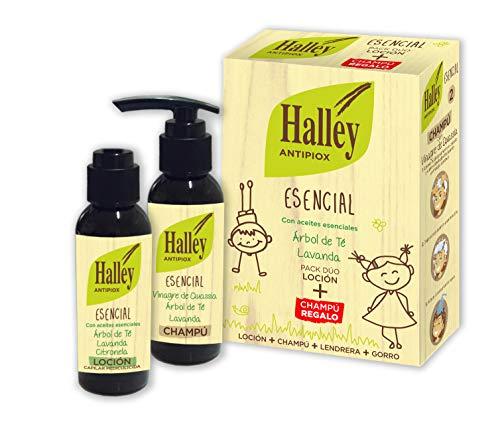 HALLEY Antipiox Tratamiento Antipiojos | Pack Loción 100ml + Champú 100ml +...