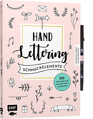 Handlettering-Schmuckelemente - 999 Vorlagen zum Nachzeichnen und Abpausen: Mit original Tombow ABT Dual Brush Pen
