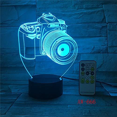 Einzigartige Dekoration Kamera 3D LED Nachtlicht LED Acryl Laterne Hologramm Tischlampe Atmosphäre Licht indirekte Beleuchtung Stimmung Licht Nachtlicht