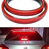 Tira de luz LED universal de tercera luz de freno, 5 funciones, 100 cm, flexible, impermeable, 3ª barra de luz de freno, señal de giro secuencial, freno, correr, doble flash para coche 12 V