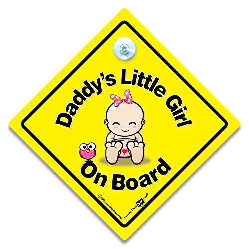 """Autoschild, Aufschrift """"Daddy's Little Girl On Board"""", mit Saugnapf"""