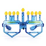 Hanukkah Menorah Lunettes LED pour enfants et adultes Cadeau Chanukah Bougies et draidels