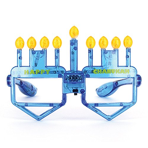 Hanukkah Menorah LED Glasses For Children and Adults Chanukah Gift. Light-up Candles & Draidels.
