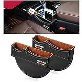 Yika – Autotasche / Zwischenraumtasche aus Premium-PU-Leder; Sitz-Organizer für Mercedes Benz AMG (2 Stück)