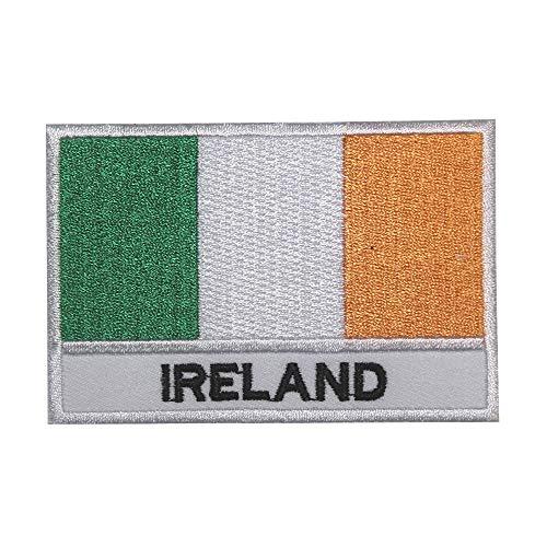 Parche bordado con bandera nacional de Irlanda, para coser o planchar
