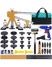 Gliston デントリペアツール デントリフター ゴムハンマー 車の凹み直し 修復工具 バキュームリフター 引っ張り工具 DIY修理工具セット(42PCS)