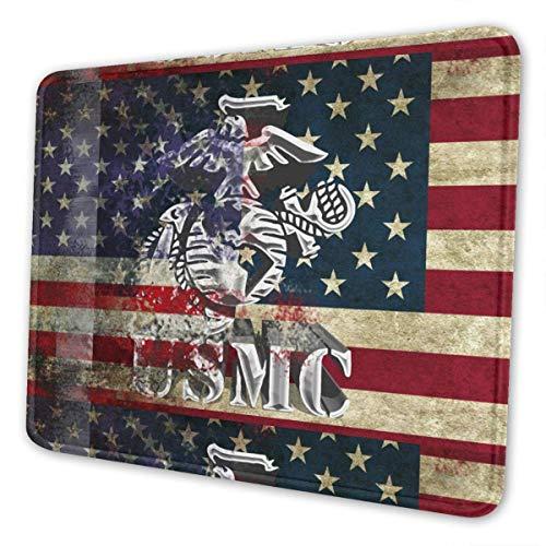 Alfombrilla de ratón Retro con Bandera de águila de la Infantería de Marina Americana, Productos de Oficina, Accesorios Personalizados, 25x30 cm