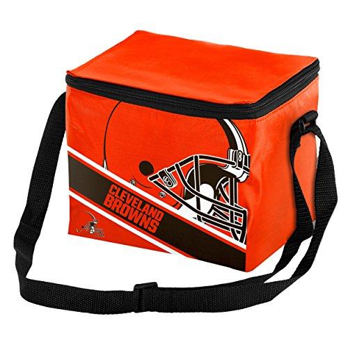 Cleveland Browns Big Logo Stripe 6 Pack Cooler