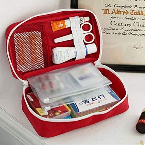 Necessaire Porta Medicamentos Primeiros Socorros Organizador Viagem (Vermelho)