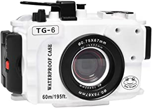 Sponsored Ad - Seafrog WPC-TG6 Waterproof housing case Underwater Diving 195FT/60M Works for Olympus TG-6 Cameras (White)