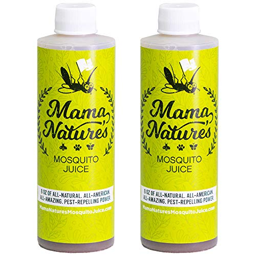 Mama Nature's Mosquito Juice - Mosquito Repellent concentrate - All Natural Outdoor Backyard Bug Control Garlic Repeller - Powerful Organic Repellent For Mosquitos, Ticks, Gnats, Fleas, Insects.