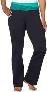 KS Women's Active Yoga Crossfit Pant,Sea Green / Black,Small