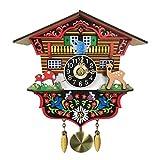 B Blesiya Reloj de Pared de Cuco con Péndulo de Madera Antiguo Adorno para Cafetería Sala de Estar Oficina Cuarto - #B