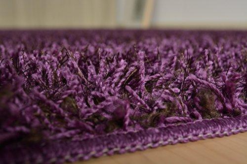 『シャギー ラグ ラグマット カーペット 絨毯 グロシア パープル 190x240cm』の6枚目の画像