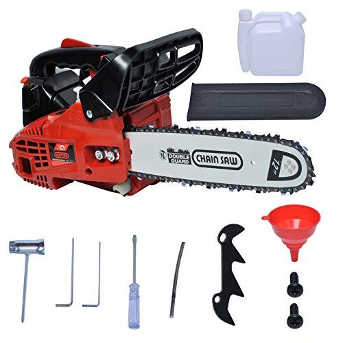"25cc Chainsaws 2-Stroke Professional Gas Powered Chain Saw 12"" for Wood Cutting Grindling Machine Farm Garden Tree Saw High-Power Portable"
