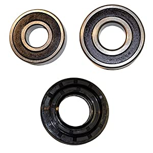 HQRP Bearing and Seal Kit Compatible with LG WM2032HS WM2042CW WM2050CW WM2075CW WM2077CW WM2101HW WM2233HD WM2277HB WM2301HR Washer Tub