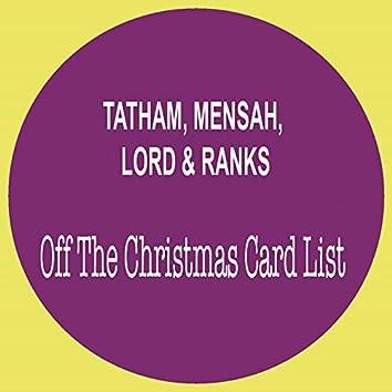 Off the Christmas Card List