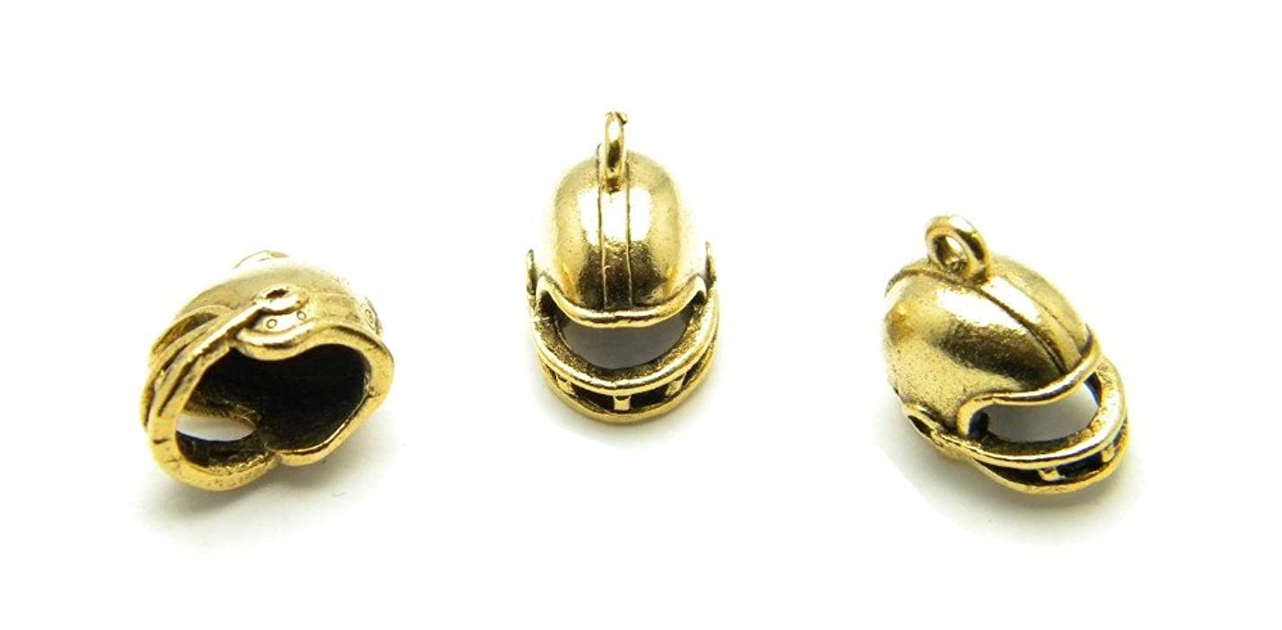 PlanetZia 6pcs Football Helmet Charms - USA Made For Jewelry Making TVT-16 (Antique Gold) kyaqignmmxvvc755