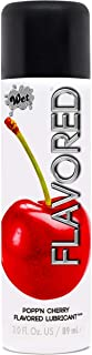 Wet Popp'n Cherry Flavored Lubricant - Water Based Edible Lubricant, 3.0 Ounce