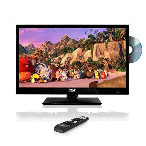 "Pyle 23.6"" 1080p LED TV, Multimedia Disc Player, Ultra HD TV, LED Hi Res Widescreen Monitor w/HDMI Cable RCA Input, LED TV Monitor, Audio Streaming, Mac PC, Stereo Speakers, Wall Mount (PTVDLED24)"