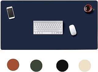 拡張レザーマウスパッド、大型ゲーミングキーボードパッドデスクコンピュータマットオフィスホームトラベル用防水ライティングマット (Color : Blue, Size : 1400x700mm(55x28inich))