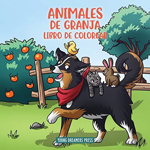 Animales de granja libro de colorear: Para niños de 4 a 8 años: 5 (Cuadernos para colorear niños)