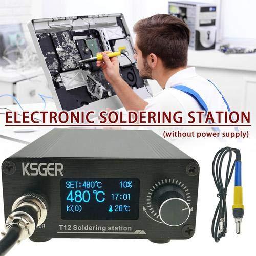 Eillybird Elektronik Lötstation Digitaler Temperaturregler Lötkolben T12-K B2 BC2 D24 Elektrokautergerät KSGER T12 V3.0 STM32 OLED Lötstation