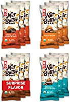 CLIF Nut Butter Bar - Organic Snack Bars - Variety Pack - Organic - Plant Protein - Non-GMO (1.76 Ounce Protein Snack...