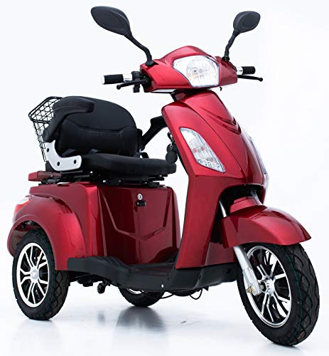 Green Power - Scooter eléctrico de 3 ruedas para adultos con accesorios adicionales: funda impermeable para scooter de movilidad, soporte para teléfono, soporte para botella