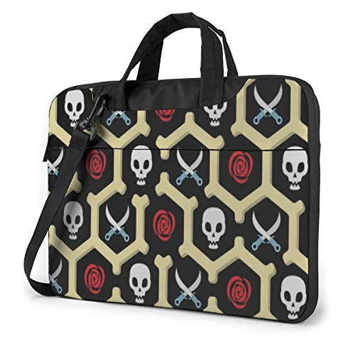 Vintage Happy Halloween Skulls Laptop Case 14 Inch Computer Carrying Protective Case with Strap Bag
