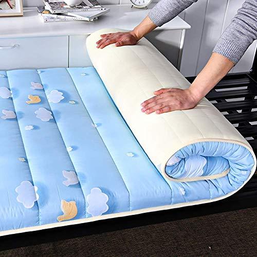 Dormire Mat Tatami Bed Ground, hipoalergénico, acolchado y cómodo, colchón japonés, rollo de cama, 150 x 200 cm