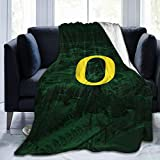 Cacazi University of O-Regon Throw Blanket Ultra Soft Flannel Fleece All Season Light Weight Living Bedroom Warm Blanket
