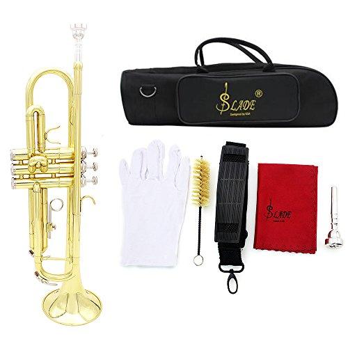 Andoer® Trompeta Bb B Flat Latón exquisito con Guantes