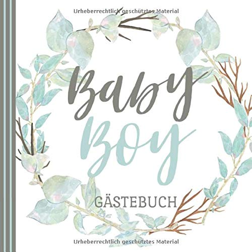 BABY BOY GÄSTEBUCH: Babyshower Gästebuch | Babyparty | Baby Shower Boy | Baby Party Junge | Tolle...