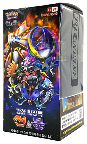 Pokémon Carte Sun & Moon Strength Expansion Pack coreano Ver TCG + 3pcs Premium Card Sleeve
