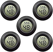 SNOWINSPRING Paquete de 5 TermóMetro HigróMetro con Pantalla LCD Digital Temperatura Ambiente e HigróMetro para Humidificador de Oficina en Casa HabitacióN para BebéS