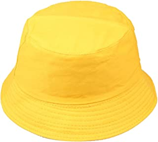 WFZ17 Portable Bucket Hat Folding Fisherman Sun Hat Outdoor Men Women Bucket Cap Beige