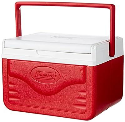 Coleman FlipLid Cooler, 5 Quart , Red