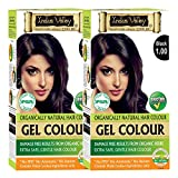 Indus Valley Ammonia-free Hair Color 1.0 (Natural Black, 35 g) - Set of