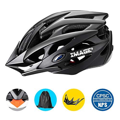 Fahrradhelm Mountainbike Helm Herren einstellbar gepolstert Fahrad Helm mit zusätzlichem Rucksack für Radsport
