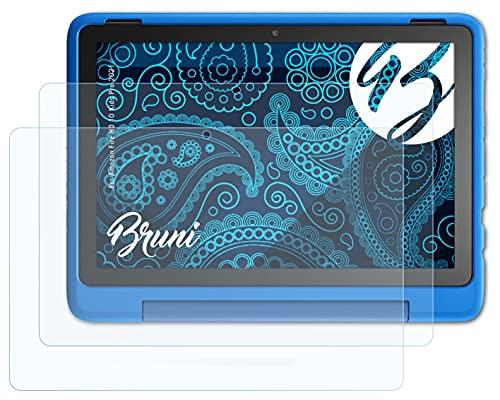 Bruni Película Protectora Compatible con Amazn F¡re HD 10 Kids Pro 2021 Protector Película, Claro Lámina Protectora (2X)