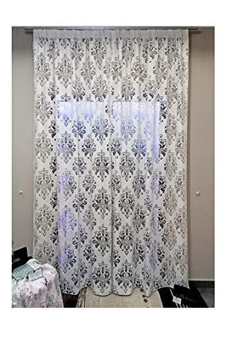 Tessuto Bangkok di Via Roma,60 colore bianco.Tenda cucita su misura e confezionata da Princi Tendaggi. Mis. 350xH.280 cm Prodotto italiano,sistema wave,tenda per camera da letto,soggiorno,cucina