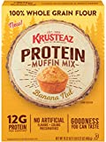 Krusteaz Protein Muffin Mix, Banana Nut - 100% Whole Grain Flour - No Artificial Flavors, Colors or Preservatives - 16.22 OZ (Pack of 4)