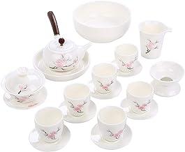 FACAIA Biała porcelana biała Hussy porcelanowa zestawy do herbaty Menage Office ceramiczny czajniczek pokryty filiżanka do...