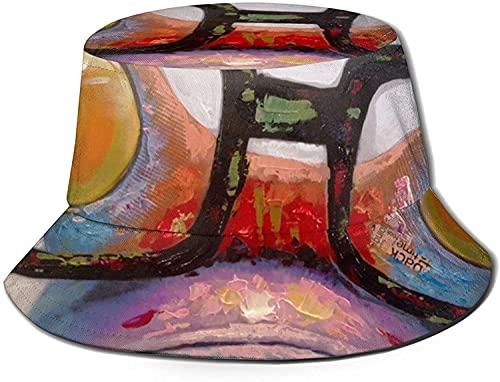 Sombrero de sol impreso, sombrero de pescador, plegable, informal, de viaje, para mujer, hombre, rana, con gafas, talla única, diseño de panda del bosque