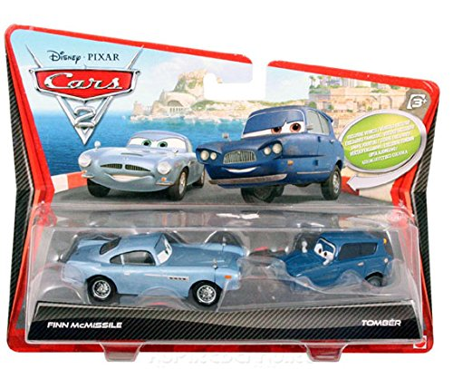 Cars 2 Movie Series 1 Finn McMissile and Tomber 2 pack Die Cast Vehicle by Mattel Toys