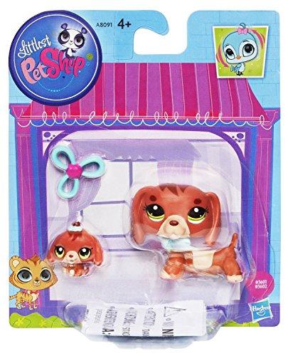 Hasbro Littlest Pet Shop LPS Dachshund Dog & Baby Figure